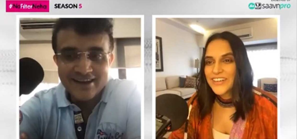 Bombay Film Production Prince of Kolkata Sourav Ganguly gets candid on JioSaavn NoFilterNeha Season 5