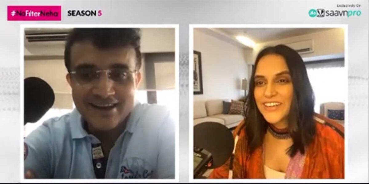 Bombay Film Production Prince of Kolkata Sourav Ganguly gets candid on JioSaavn NoFilterNeha Season 5